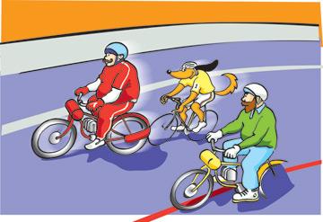 Fahrrad-Hund: Derny